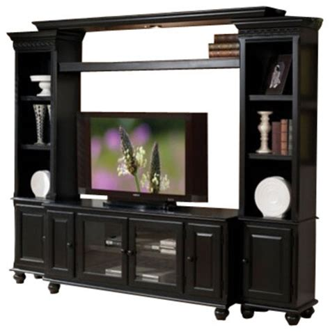small tv stands thin tv stand duke distressed natural 4 piece ferla black finish wood slim profile entertainment