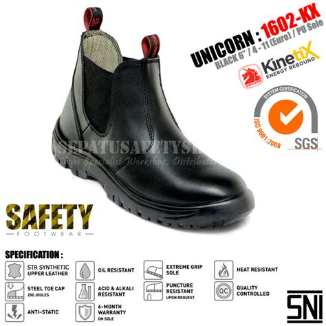 Sepatu Safety Unicorn 1602kx Jual Sepatu Safety Unicorn Www Sepatusafetyshoes