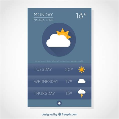 weather mobile weather mobile app vector free