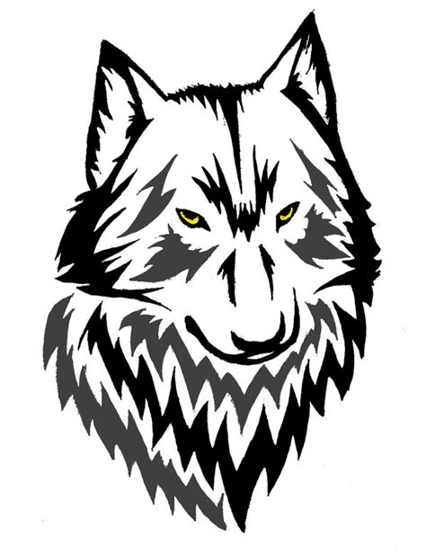 how to draw a wolf tattoo wolf tattoo step by step line wolf head clipart best