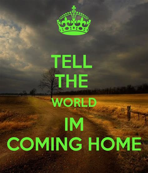 tell the world im coming home poster sanders