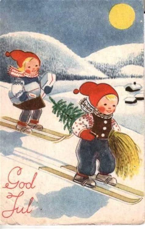 images  christmas cards  norway norske julekort  pinterest kerst