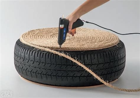 tyre ottoman how to make your own ottoman from an old tire
