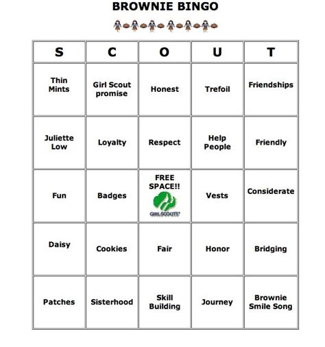 route card template scouts 57 best scout brownies images on brownie
