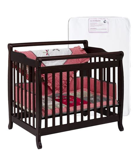 mini crib convertible espresso convertible mini crib mattress zulily