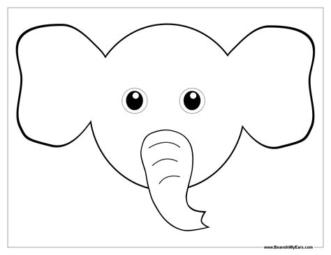 elephant head coloring page elephants coloring book