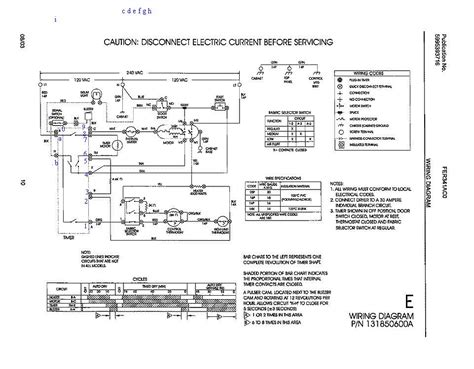 frigidaire gallery dryer wiring diagram k