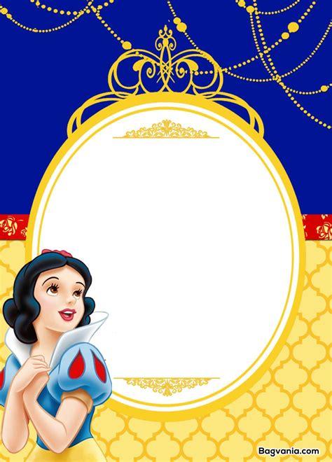 free printable snow white birthday invitations bagvania