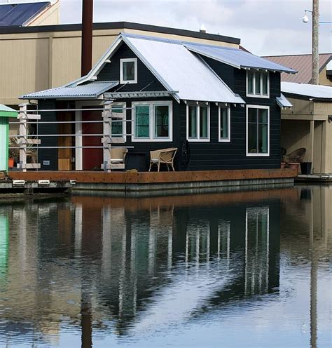 boat houses portland oregon small house boats for sale just over boats cluster around peaceful taggs island in