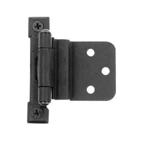 3 8 inset cabinet hinges concealed acorn manufacturing 3 8 quot inset semi concealed hinge black