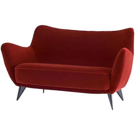 mohair velvet sofa giulia veronesi perla sofa in red mohair velvet isa