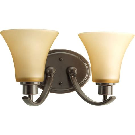 2 Light Vanity Fixture Progress Lighting Collection 2 Light Antique Bronze Vanity Fixture P2001 20 The Home Depot