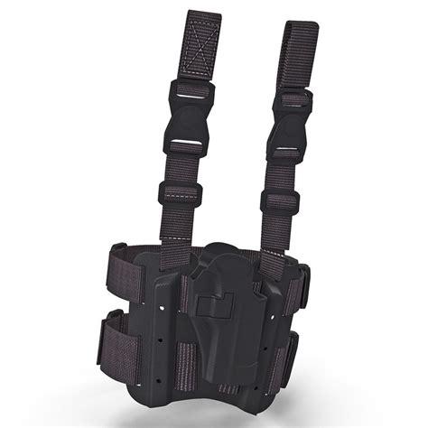 Kaos 3d Gun Holster M 3d model tactical leg pistol holster