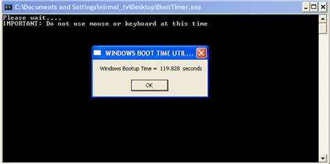 Time To Go To Bootc by Estimate Boot Time In Windows