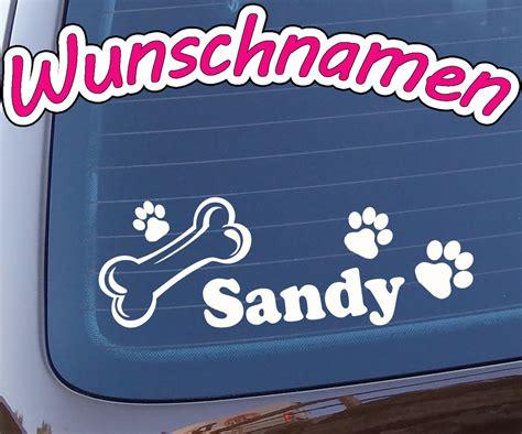 Sticker Mit Namen Bestellen by Hundeaufkleber Mit Namen Nach Wunsch Mit Hundepfoten Aufkleber