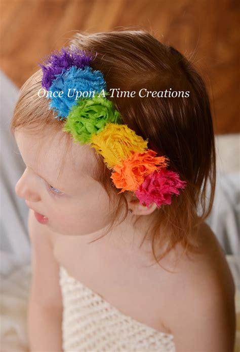 Headband Baby Jingga Flower 2 items similar to bright rainbow birthday mini shabby flower headband birthday photo