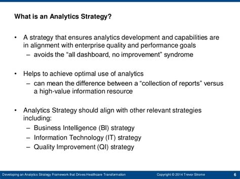 Davenport Mba Requirements by Developing A Strategic Analytics Framework That Drives