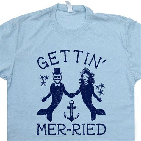 Wedding T Shirts by Mermaid T Shirt Merman T Shirt Wedding T Shirt
