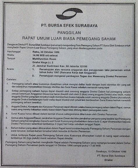 Contoh Surat Undangan Acara by Contoh Surat Undangan Surat Resmi