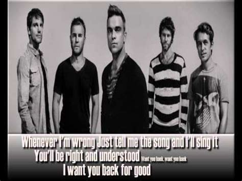 back for good take that back for good lyrics hq youtube