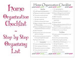 organize my house checklist items similar to home organization checklist pdf