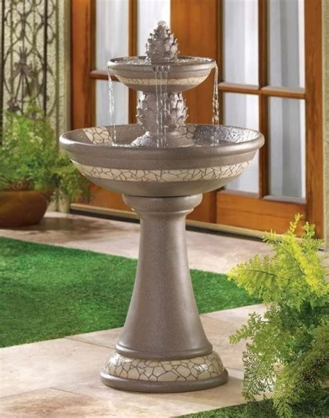 bathroom water fountain yard garden outdoor bird bath water fountain w electric pump