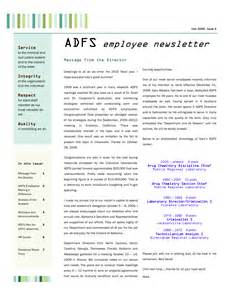 Employment Newsletter Employee Newsletter Exles