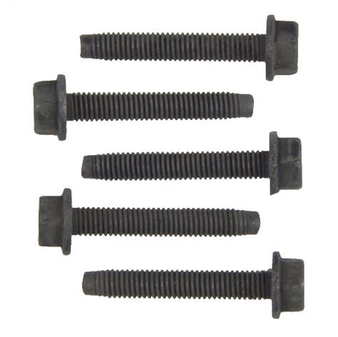 gm hex flange bolts pack of 5 new oem black m6 x 1.00 x