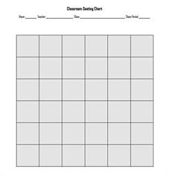 Seating Chart Template by Classroom Seating Chart Template 14 Exles In Pdf