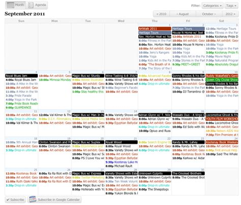 All In One Event Calendar Calendar Plugins For For Cultural Listings Site