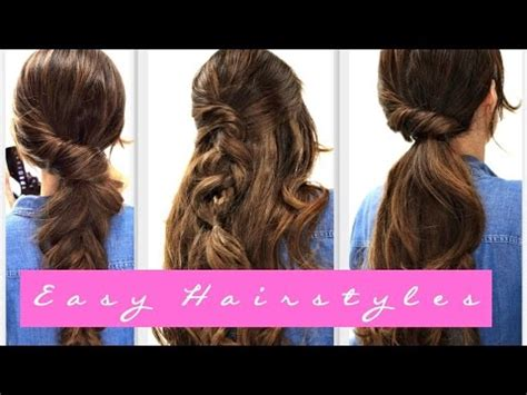 easy everyday hairstyles video download download 6 easy lazy hairstyles cute everyday hairstyle