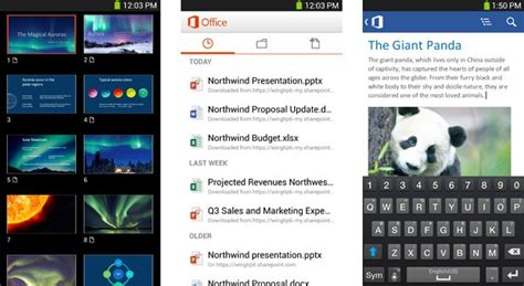 office mobile for office 365 android official web