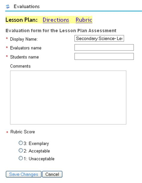 lesson plan feedback template form for you to complete for exle the lesson plan