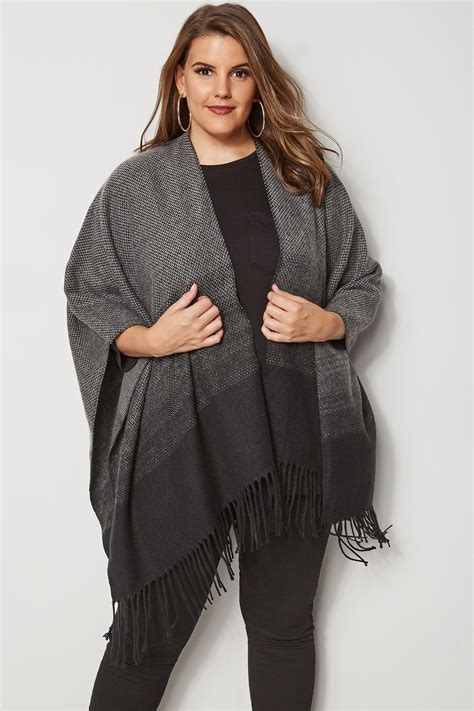 Napoclean Strong By Nry Fashion black grey ombre wrap