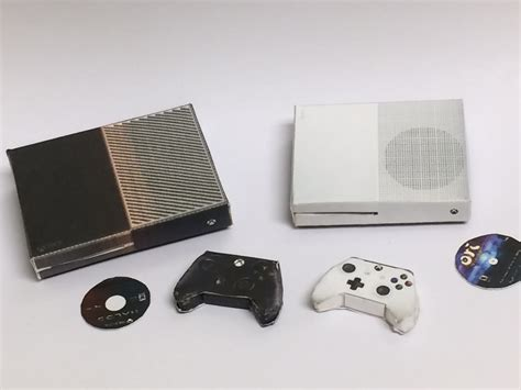 Papercraft Xbox - microsoft xbox one and xbox one slim console