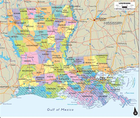 city  parish map  louisiana  printable maps