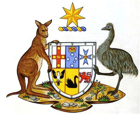 national arms of australia heraldry of the world