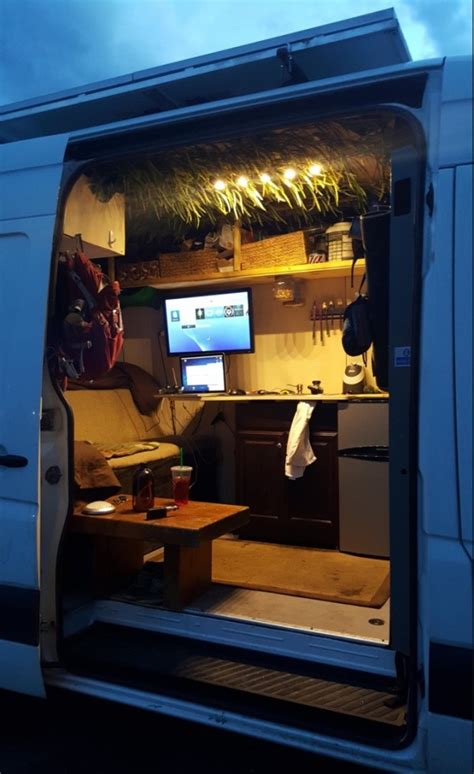 Two Car Garage Plans by Man Converts Sprinter Van Into A Stealthy Mini Motorhome