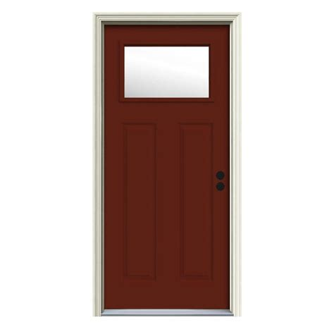 doorcraft doors by jeld wen jeld wen 32 in x 80 in 1 lite craftsman mesa painted