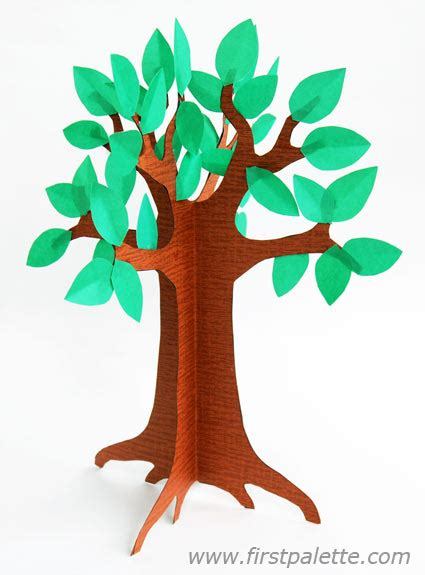 3d Tree Template Free by 3d Paper Tree Craft Crafts Firstpalette