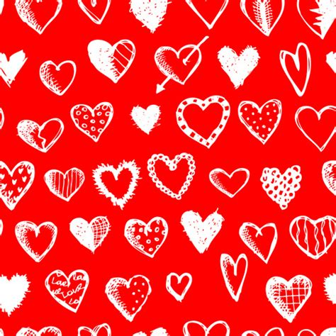 love heart pattern love with hearts patterns seamless vector set free vector