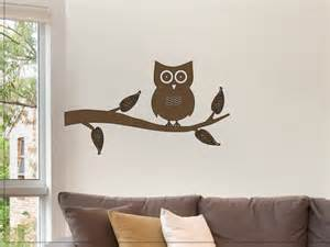 owl on a tree branch wall sticker decal wall decor for