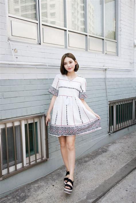 stylish ways  wear dresses  korean fashion style