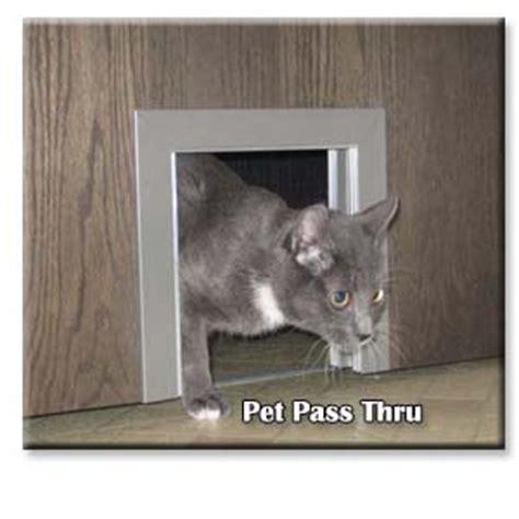 Pet Pass Thru Interior Door Pet Door Cats Small Dogs Interior Pet Door