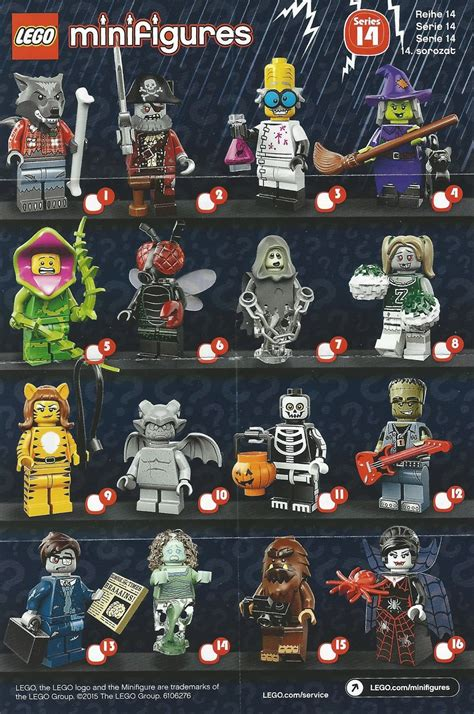 Lego Minifigures Series 12 Complete Set 16 Character the minifigure collector lego minifigures series 14
