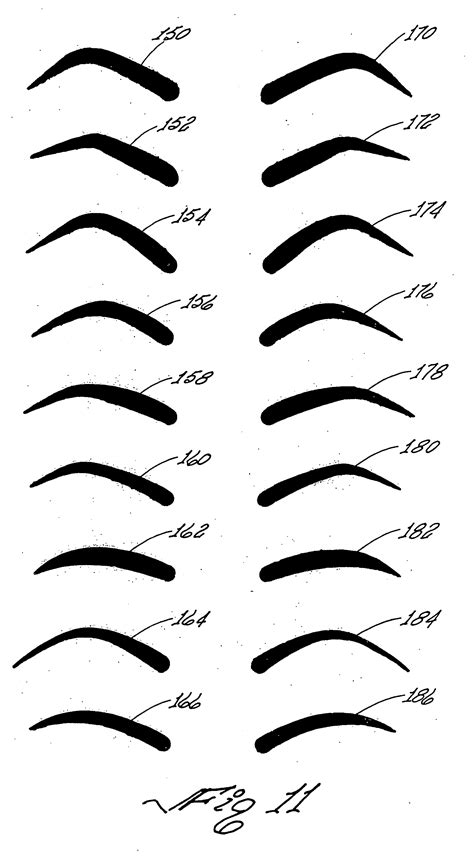 printable eyebrow shaping stencils printable eyebrow stencils actual size www pixshark com