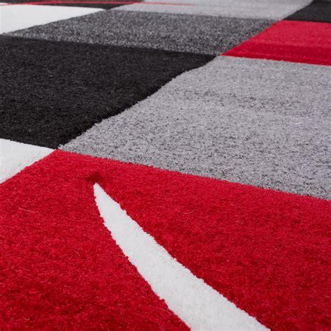 Teppich Rot Schwarz Grau by Teppich Wohnzimmer Modern Palermo Mit Konturenschnitt In