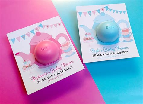 eos template for baby shower favors tea party baby shower eos balm favors teapot template