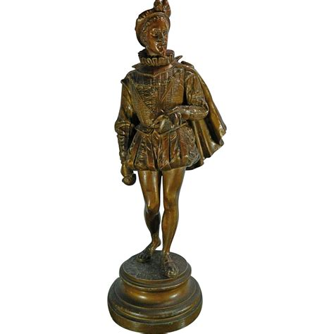 Spelter L by Antique Bronze Spelter Statue Of A Musketeer 19th