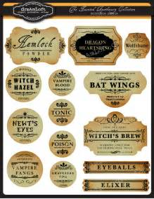the haunted apothecary frames and labels for personal by